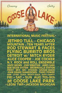 Vintage Detroit Concerts | Goose Lake - Vintage Detroit Concert poster by Carl Lundgren