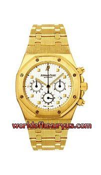 25960BA.00.1185BA.01 - The Audemars Piguet Royal Oak watch features a 39mm yellow gold case, white dial, sapphire crystal, and matching yellow gold bracelet. - See more at: http://www.worldofluxuryus.com/watches/Audemars-Piguet/Discontinued-Models/25960BA.OO.1185BA.01/62_785_320.php#sthash.zu2zOJC8.dpuf