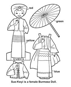 Children Of Other Lands Coloring And Paper Doll Patterns  Mom I