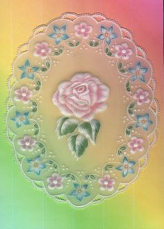 Pergamano  Parchment - Colored pencils. //  ♡ I WOULD FRAME THIS!!! (With a black velvet background!)  THE ROSE IS GORGEOUS,  AND I LOVE THE WAY SHE DID THE LEAVES!  ♥A