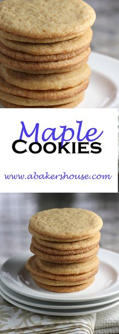 Maple cookies are a basic sugar cookie dressed up with maple flavors using maple syrup. Just enough of a twist to made them stand out. Baking with maple is great for the fall season or year round.