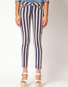 River Island Stripe Skinny Jean