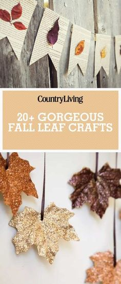 These autumn crafts are unbe-leaf-able! Try these DIYs with your kids, they make perfect decorations for your home this fall.