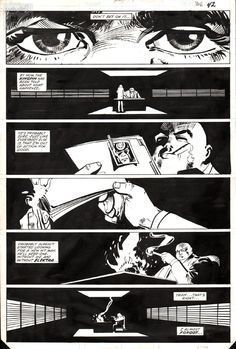 Frank Miller Daredevil 181 p42 (1982) Comic Art