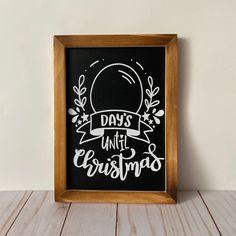 Christmas Countdown Calendar Chalkboard Sing Christmas   Etsy