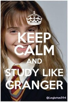 Study Like Granger - yes all the Cullen kids are nerds but sometimes Megan and Renesmee don't want to study so we (Esme, Alice, Edward, Jasper) remind them to study like Hermione! They pretend they are Hermione and study a lot :) Classe Harry Potter, Keep Calm And Study, Image Citation, Finals Week, Harry Potter Love, Harry Potter Memes Clean, Study Motivation, Exam Motivation Quotes, Morning Motivation