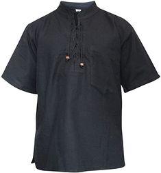 SHOPOHOLIC FASHION Mens Half Sleeved Hippie Grandad Shirt (3XL, Green) at Amazon Men's Clothing store Tai Chi Clothing, Hippie Festival, Festival Style, Grandad Shirts, Henleys, Festival Fashion, Casual Button Down Shirts, Mens Fashion, Sleeves