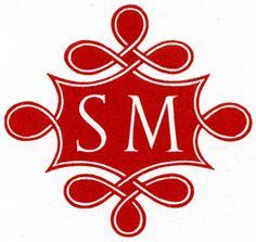 REYNOLDS STONE: Monogram for Stanley Morison, ca. 1930 C'est parfait pour mes initiales !!!
