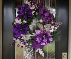 A Twist Divine's brand new addition: Purple Lovers Christmas Wreath  https://www.etsy.com/listing/214378161/lovely-purple-lovers-winter-wreath