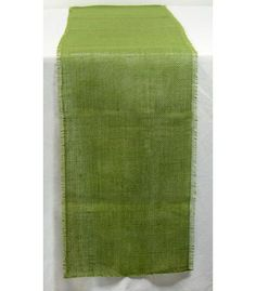 6' Frayed Edge Burlap Fabric Table Runner: Moss Green Image. I DO have Burlap at home I can dye.