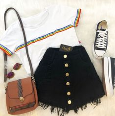 Life is what you paint it to be tee - Outfits - Roupas Cute Casual Outfits, Swag Outfits, Mode Outfits, Cute Summer Outfits, Pretty Outfits, Stylish Outfits, Casual Summer, Summer Dresses, Teen Fashion Outfits