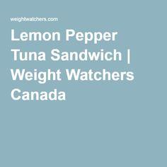 Lemon Pepper Tuna Sandwich | Weight Watchers Canada
