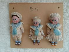 3 antique Kestner Googlys-Goolies on sample card in Dolls & Bears, Dolls, Antique (Pre-1930), Bisque, German | eBay