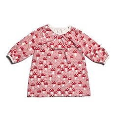 Aurora Baby Dress - Mushrooms Red