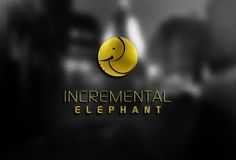 incremental elephant logo design v.01