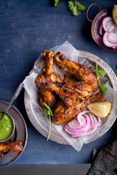 Tandoori Chicken by Sinfully Spicy Authentic Tandoori Chicken Recipe, Indian Chicken Recipes, Veg Recipes, Indian Food Recipes, Asian Recipes, Cooking Recipes, Tandoori Recipes, Recipies, Grill Recipes