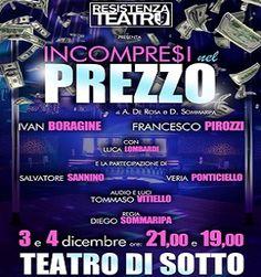"""""""Incompresi Nel Prezzo"""" è un'esilarante commedia sul precariato. Sarà in scena al Teatro di Sotto questo weekend. Regia di Diego Sommaripa. #weekend #teatro #Napoli"""