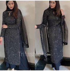 Party Wear Indian Dresses, Pakistani Fashion Party Wear, Designer Party Wear Dresses, Pakistani Dresses Casual, Indian Fashion Dresses, Dress Indian Style, Pakistani Dress Design, Black Pakistani Dress, Latest Pakistani Fashion