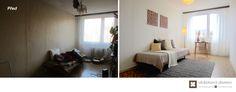 Home Staging částčně zařízeného panelového bytu v Praze Řepích, více info k tomuto projektu na http://ukazkovydomov.cz/2017/04/27/home-staging-castcne-zarizeneho-bytu-31-praha-repy/ #praha #prague #czech #homestaging #pred #po #before #after #white #walls #loznice #bedroom #panelak #cz