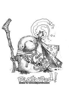 Reaper Miniatures :: Miniatures Baby Platypus, Duck Billed Platypus, Harmony Day, Reaper Miniatures, Star Wars, Cute Cartoon Animals, Dope Art, Spirit Animal, Cute Drawings