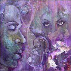 Prince Painting - Purple Rain by Shadia Zayed