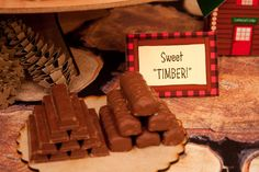 Food: Sweet Timber  {via Piggy Bank Parties}