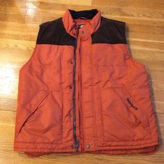 Men's timberland vest Excellent condition. Burnt orange color with brown corduroy on back. Men's xl Timberland Jackets & Coats Vests