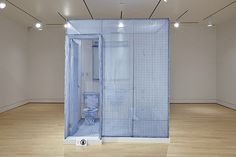 Do Ho Suh, '348 West 22nd Street, Apartment A, New York, NY 10011 (Bathroom),' 2003, polyester, steel framework, 245 x 211 x 154 cm. Art Gallery of Ontario, gift of Jay Smith and Laura Rapp and Gilles and Julia Ouellette, 2008, 2008/271. Installation view, are you experienced?, Art Gallery of Hamilton, Canada 26 June 2015 - 03 January 2016. © Do Ho Suh, courtesy of the artist and Art Gallery of Ontario. Photo by Mike Lalich. #AGHayx #ArtGalleryofHamilton