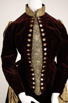 Date: 1887–89 Culture: American Medium: silk, metallic Dimensions: (a) Length at CB: 20 1/2 in. (52.1 cm) (b) Length at CB: 43 1/2 in. (110.5 cm)