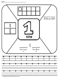 Here's a set of pages for writing and representing numbers from 1-10.
