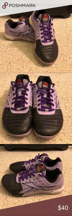 74c3b4031bd6 REEBOK CROSSFIT NANO EDITION 4 Size 6 Previously loved women s CrossFit  Nano 4. Purple and
