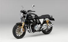 Descargar fondos de pantalla HONDA CB1100RS, 2017, motocicletas Nuevas, el negro de la bicicleta, el Japonés de motocicletas, HONDA