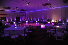 Reception lighting, setup ideas. Love the Bride & Groom's initials on the dance floor.