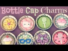▶ BOTTLE CAP pins, magnets & charms - How To - Recycle - YouTube