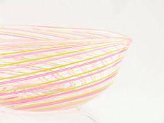 Blown Glass Bowl  Venetian Style Heart Bowl  by AvolieGlass, $95.00