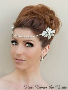 Hair Comes the Bride - Jeweled Chain Bridal Hair Comb ~ Eternity, $115.00 (http://www.haircomesthebride.com/jeweled-chain-bridal-hair-comb-eternity-1/)
