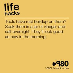 Improve your life one hack at a time. 1000 Life Hacks, DIYs, tips, tricks and More. Start living life to the fullest! Household Cleaning Tips, Cleaning Recipes, House Cleaning Tips, Cleaning Hacks, Amazing Life Hacks, Simple Life Hacks, Useful Life Hacks, Tips And Tricks, Makeup Tricks