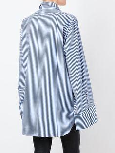 Alyx pinstriped wide sleeve shirt