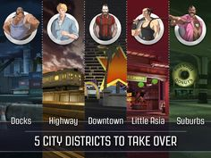 5 city districts to take over!