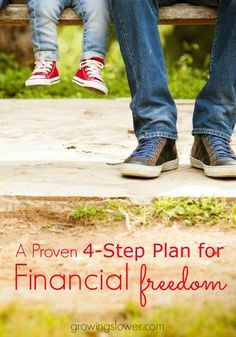 4-Step Plan for how to make family financial goals for financial freedom. This goal setting process is ultra quick and simple, and it has the potential to take you from 'wanting to' be successful in your finances to actually DOING it!