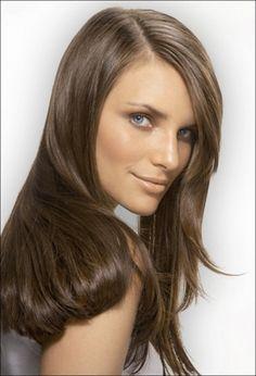 Medium Ash Brown Hair Color Loreal For Cover Girl & Light eyeshadow ...