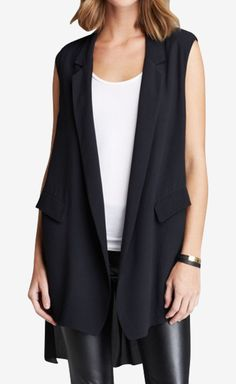 Twelfth St. by Cynthia Vincent Black Vest | VAUNTE