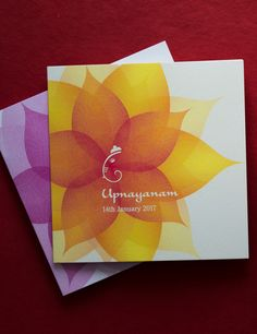 Thread Ceremony Invitations With Traditional Motifs