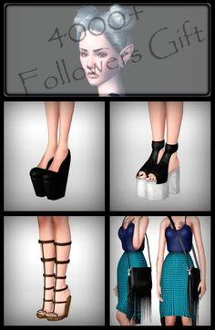 2 Platforms + Sandals + Shoulder Bag - Sims 3 Downloads CC Caboodle Check more at http://customcontentcaboodle.com/2-platforms-sandals-shoulder-bag/