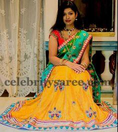 Royal Gold Half Saree   Saree Blouse Patterns