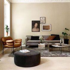 Nordic Home, Nordic Style, Scandinavian Interior, Brown And Grey, Minimalism, Ottoman, Sweet Home, Pastel, Sofa