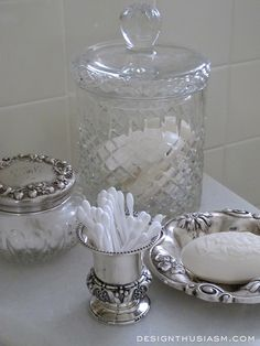 Decorating with vintage silver for the holidays | Holiday preparation for your home | Holiday plan | designthusiasm.com