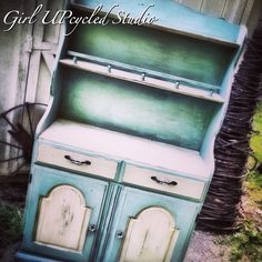 Contact girl UPcycled for custom work! SOLD sample of CUSTOM WORK Hutch Shabby Chic Chalk by girlUPcycled, $1.00