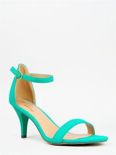 Glaze WILLOW-21 Ankle Strap Kitten Heel -