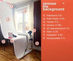 DIY 1: Wie Sie ihr eigenes Fotostudio mit einem Mini-Budget errichten | Remove The Background Deutschland